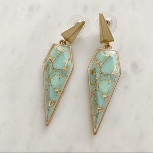 Accessories - Stella and Dot  Winona Drop Earrings Gold pyramid